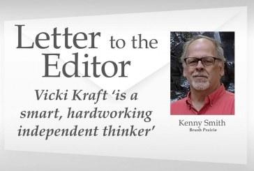 Letter: Vicki Kraft 'is a smart, hardworking independent thinker'