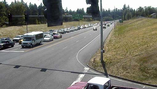People who use State Route 500 between St. Johns Road and Andresen Road should expect delays during construction to improve safety on the highway this fall. Shown here is the intersection of SR 500 and NE 42nd Ave. Photo courtesy of Washington State Department of Transportation