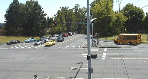 State Route 500 in Vancouver is scheduled to close for the next two weeks for safety improvement work. Shown here is the intersection of SR 500 and NE 54th Ave. Photo courtesy of Washington State Department of Transportation