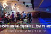 Video: Hockinson football keeps rolling … down the lanes