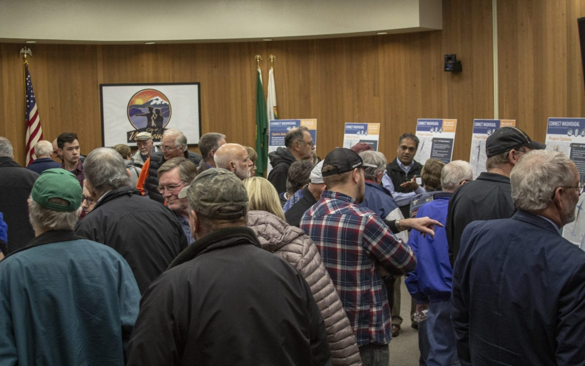 Dozens of community members showed up to understand what their city hopes to do with the Connecting Washougal project at the city's open house on Nov. 14. Photo by Jacob Granneman