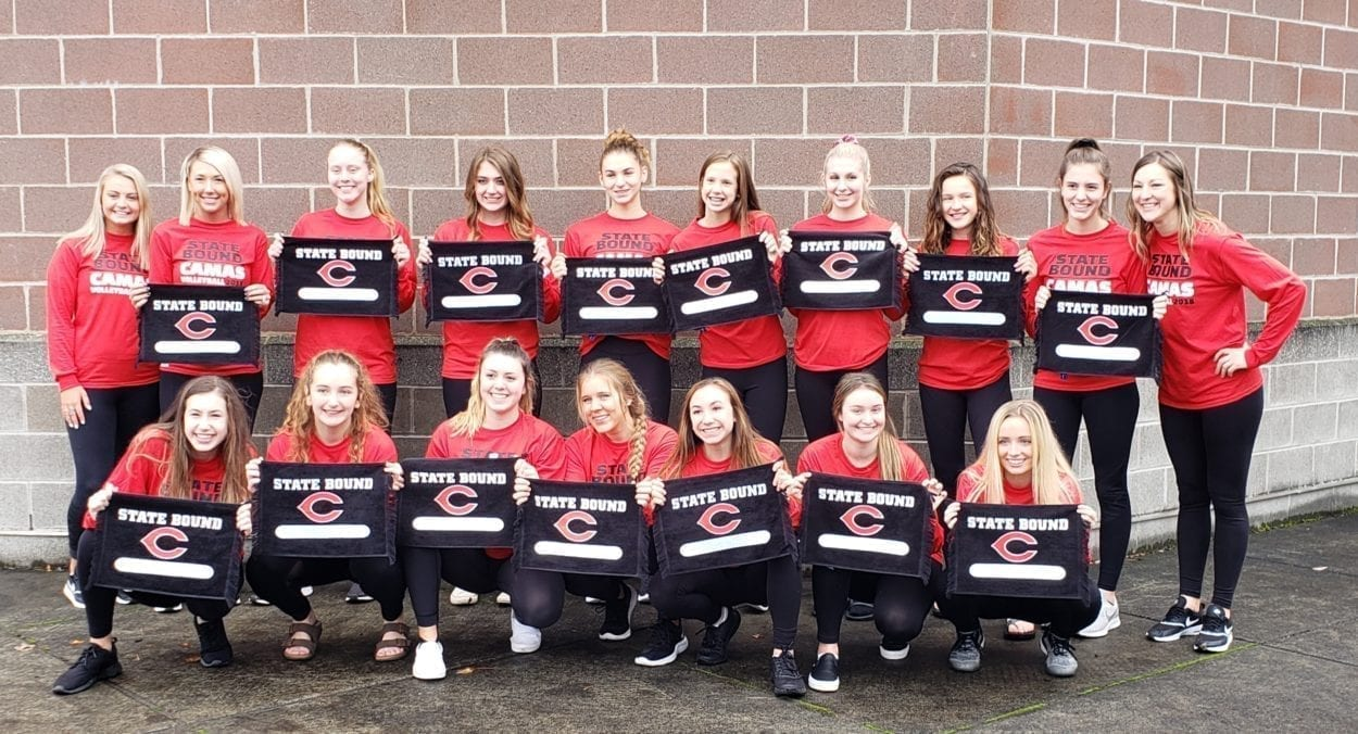 The Camas Papermakers tied for a league title, then won two in a row at bi-district to reach the Class 4A state volleyball tournament. Photo by Paul Valencia