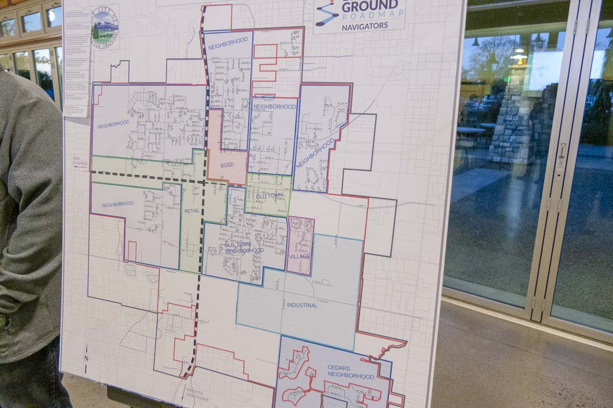 This map shows a proposed growth plan for the city of Battle Ground. Photo by Chris Brown