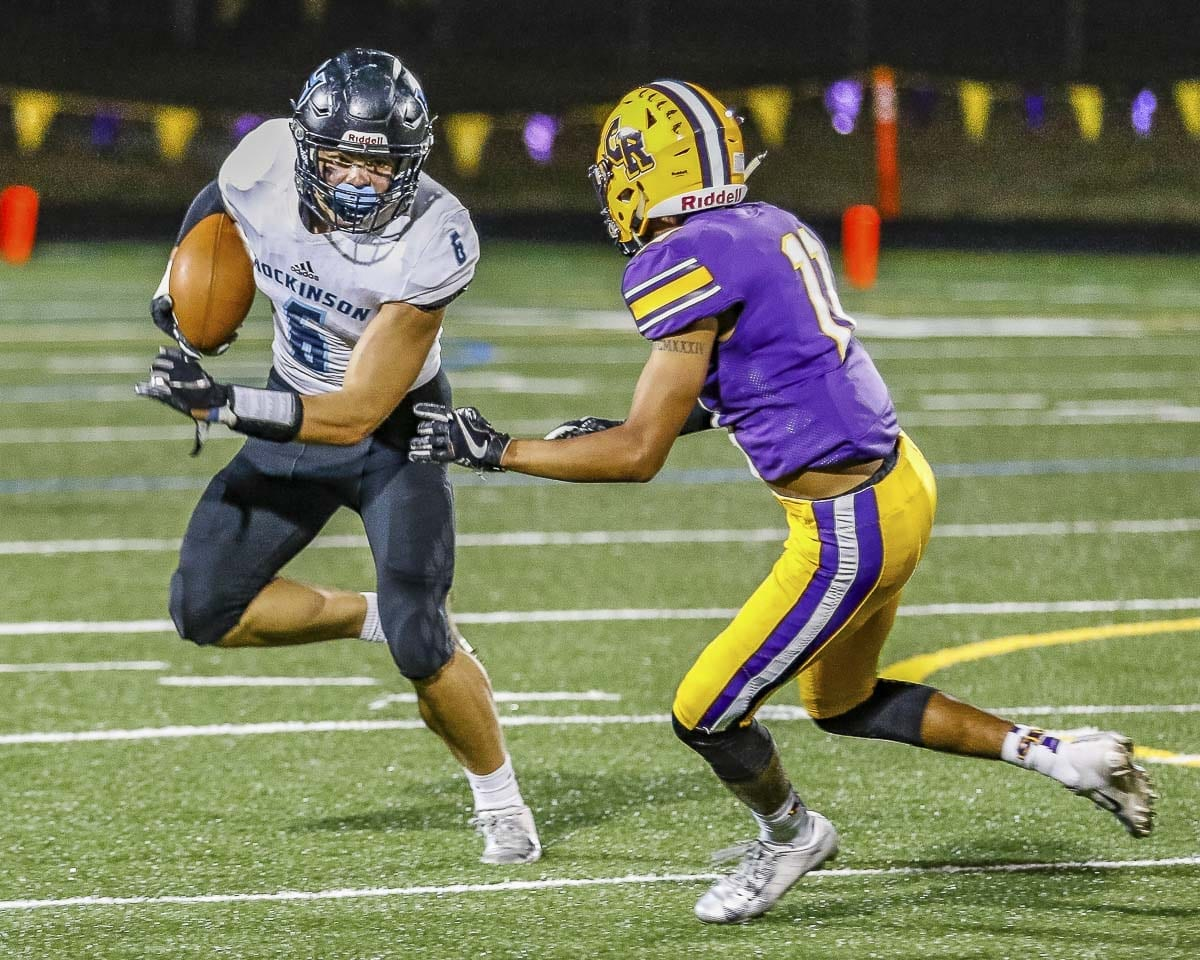 Hockinson senior Nick Fricthl moved to tight end for his final year with the Hawks and earned first-team, all-league status. He and the Hawks play for the Class 2A state championship on Saturday. Photo by Mike Schultz