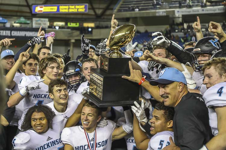 The Hockinson Hawks are back in the playoffs this year, trying to defend the state championship they won last year. Photo by Mike Schultz