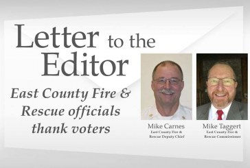 Letter: East County Fire & Rescue officials thank voters