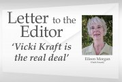 Letter: 'Vicki Kraft is the real deal'
