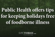 Public Health offers tips for keeping holidays free of foodborne illness