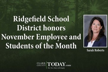Ridgefield School District honors November Employee and Students of the Month