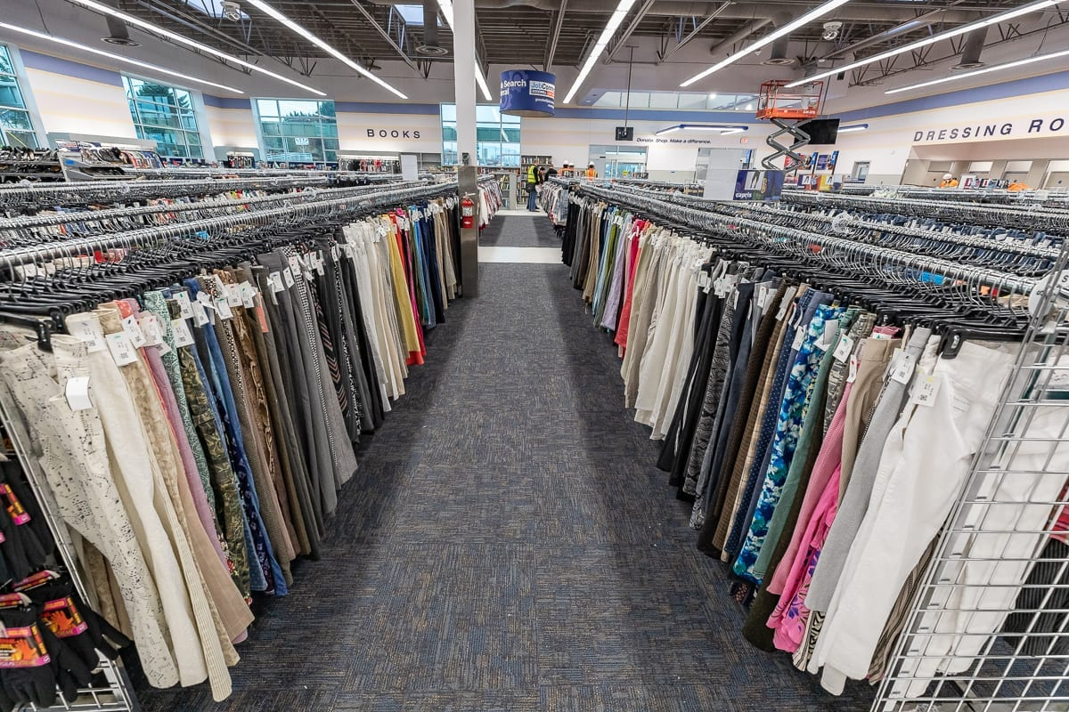 New Goodwill stores are stocked with some of the best donations around for their first four days of business. Photo by Mike Schultz