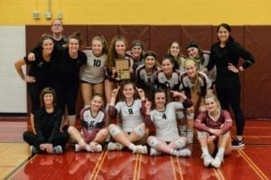The Prairie Falcons are back at state volleyball for the eighth consecutive season. Photo courtesy of Katie Vroman