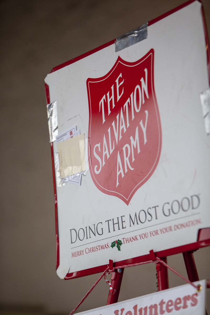 The Salvation Army has fundraiser stations at nearly every large store in Vancouver. This year they are eager to have more volunteers join, so they can expand they're community outreach programs. Photo by Jacob Granneman