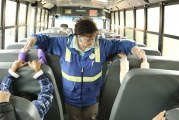 Glenwood Heights students learn bus safety from one of the best