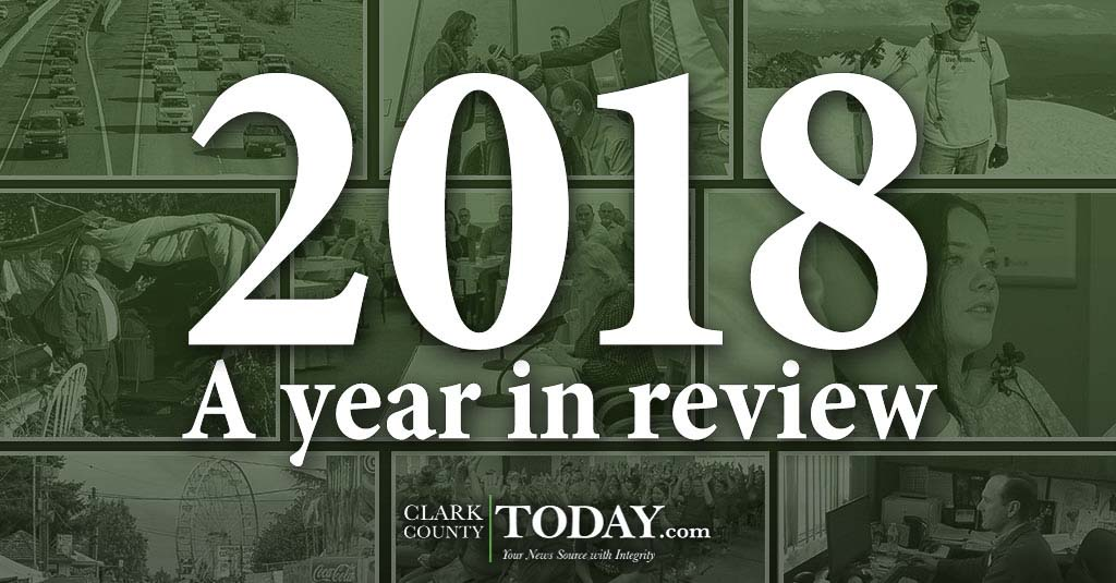 ClarkCountyToday.com offers its 2018 Year in Review, which includes a look back at the teacher strikes that delayed the start of school for most students as well as the general election, hiring of a new county manager and coverage of transportation congestion issues.