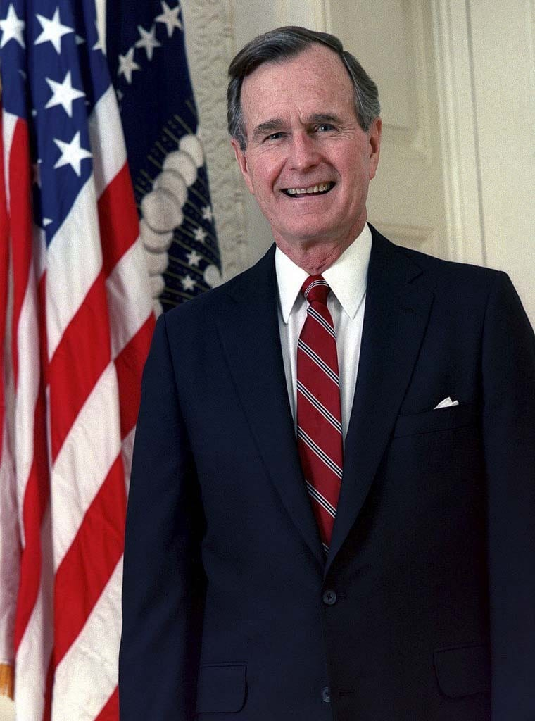 George H.W. Bush. Wikimedia Commons