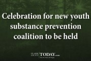 Celebration for new youth substance prevention coalition to be held