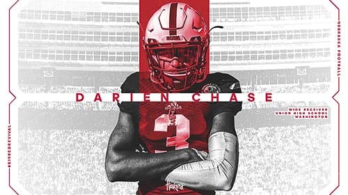 The University of Nebraska announced Wednesday morning that Darien Chase of Union did sign his letter of intent. Photo courtesy of Nebraska athletics