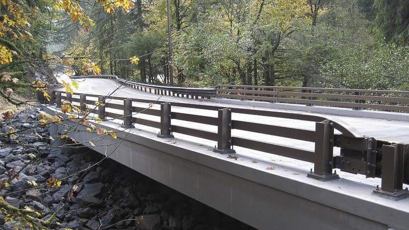 The Cougar Creek Bridge in Washougal, built in 2012, is one of Clark County's newest bridges. Photo courtesy Clark County Public Works