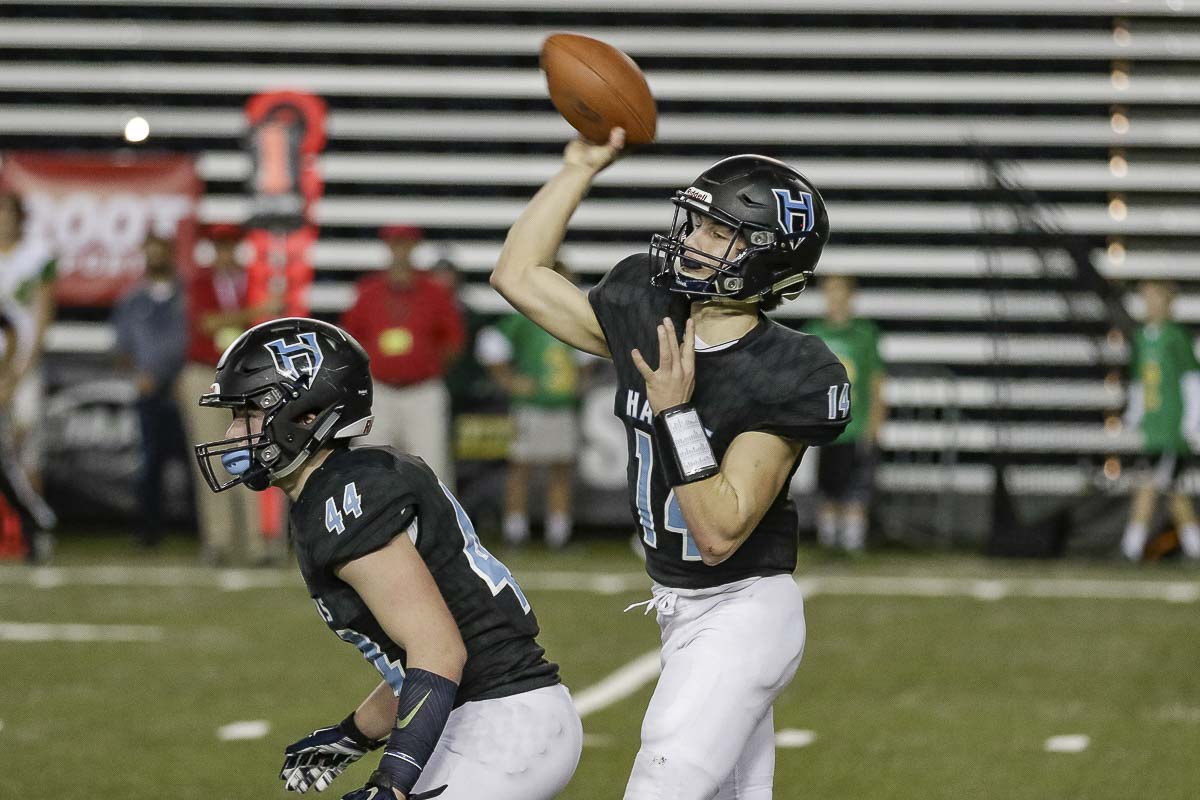 Hockinson's Levi Crum is 13-0 as a starting quarterback. On Dec. 1, he helped Hockinson to its second consecutive state championship. Photo by Mike Schultz
