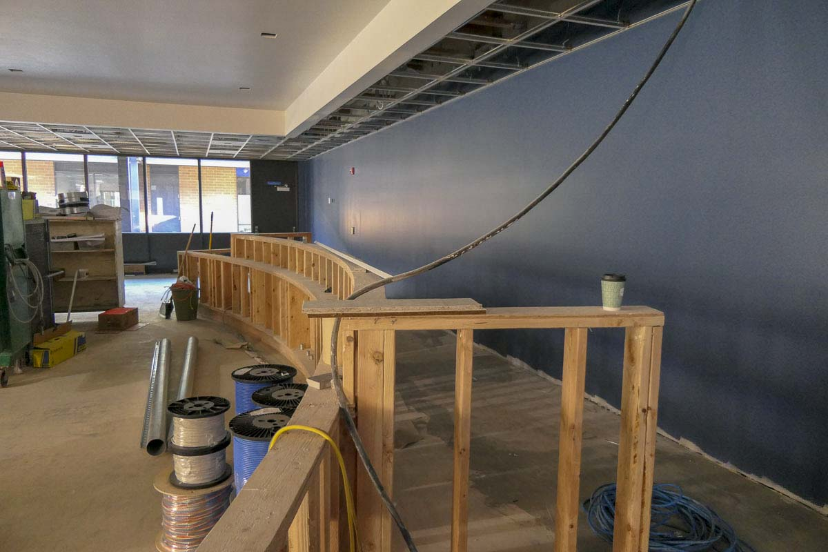 Construction is underway for a new Ridgefield City Council meeting space at the former View Ridge Middle School building. Photo by Chris Brown