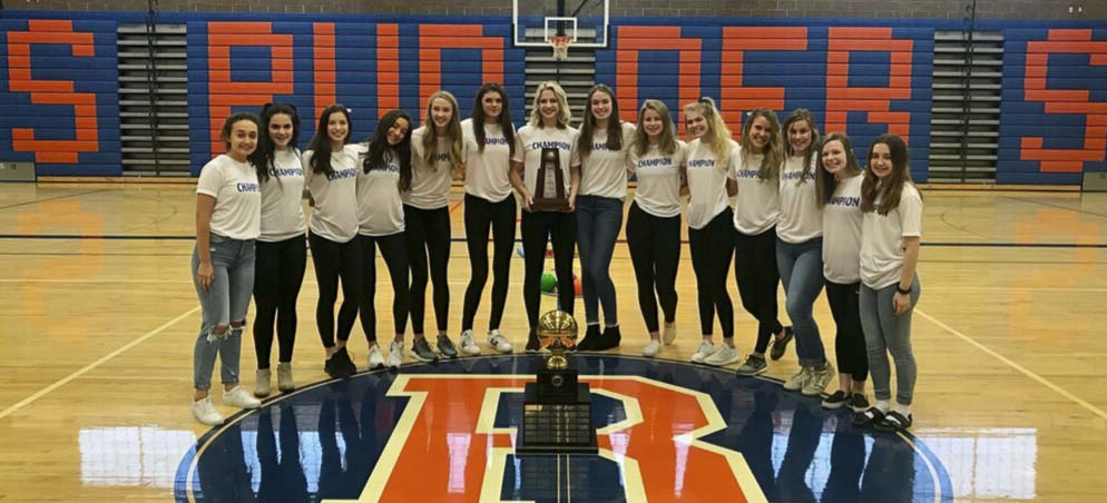 Year in review: Ridgefield volleyball became the eighth high school sports team from the region to claim a team title in the calendar year. Later, two football teams would win, giving Clark County 10 champions. Photo courtesy of Ridgefield athletics.