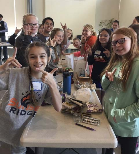 Ridgefield's team of fifth-graders from Sunset Ridge Intermediate School placed among the top 5 schools at the 11th Annual Elementary Science Olympiad Invitational Tournament at Clark College on Nov. 17. Photo courtesy of Ridgefield School District