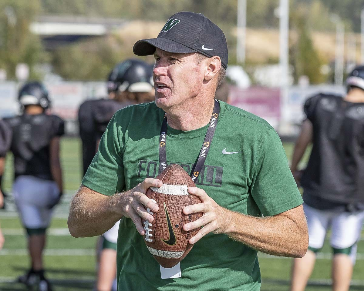 Mike Woodward stepped down Friday as head football coach at Woodland High School. Woodward coached the Beavers for three seasons, including the 2018 campaign during which he guided his team to an 8-2 record. Photo by Mike Schultz