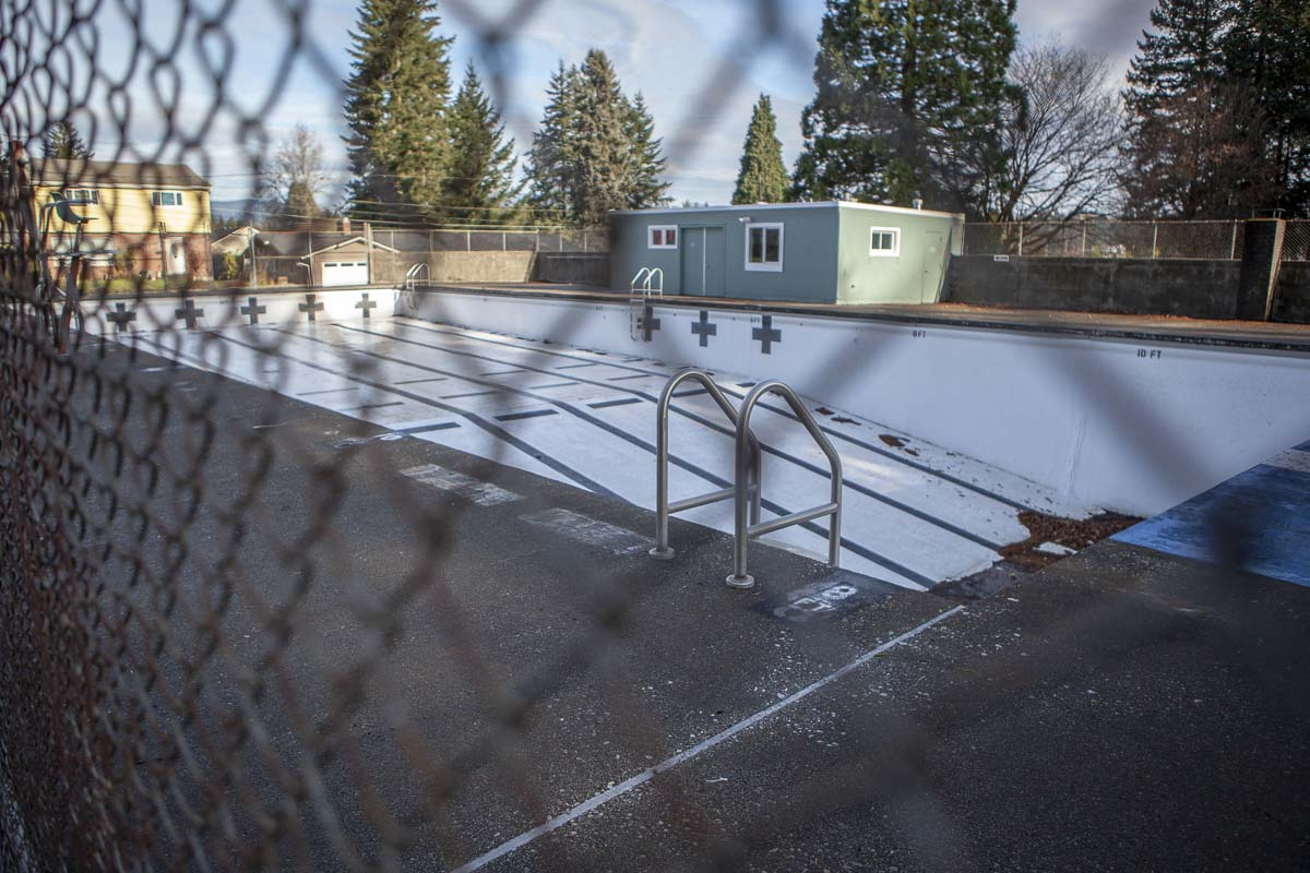 Crown Park Pool was constructed in 1954, and maintained by the city of Camas in recent years. Now, the decision has been finalized to demolish the pool and revisit new construction at a later time. Photo by Jacob Granneman