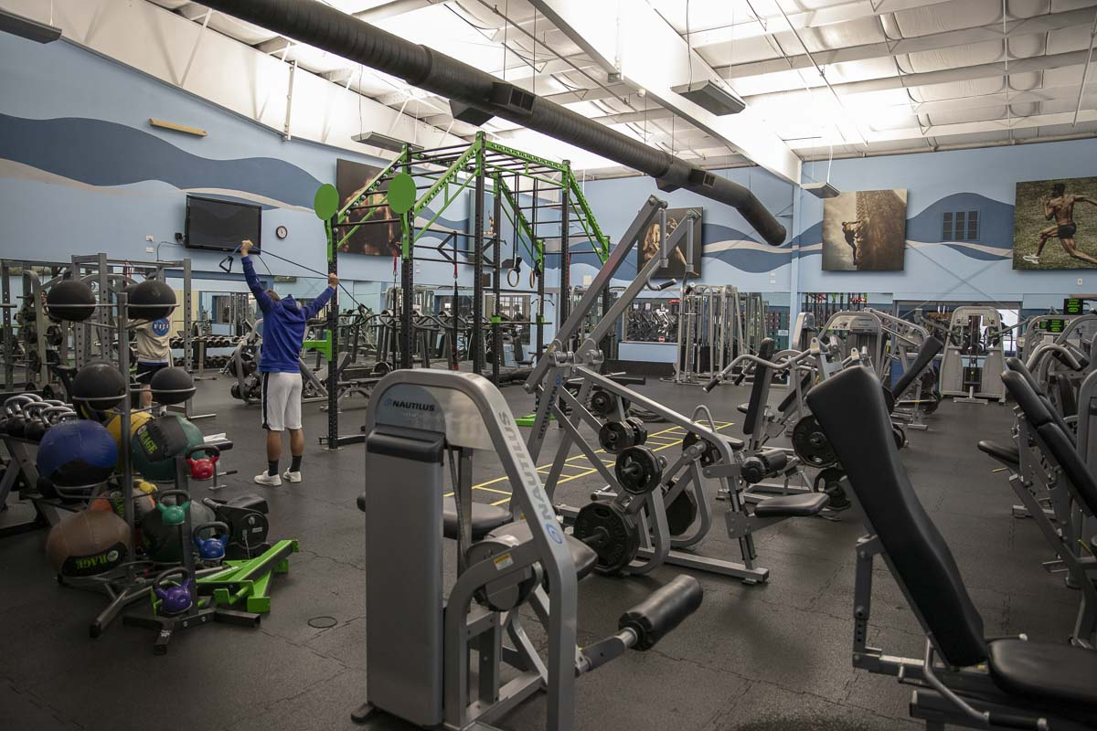 The interior of Lacamas Athletic Club houses updated workout equipment and various stations for specific exercise, some of which will be available to use during the free bootcamp. Photo by Jacob Granneman