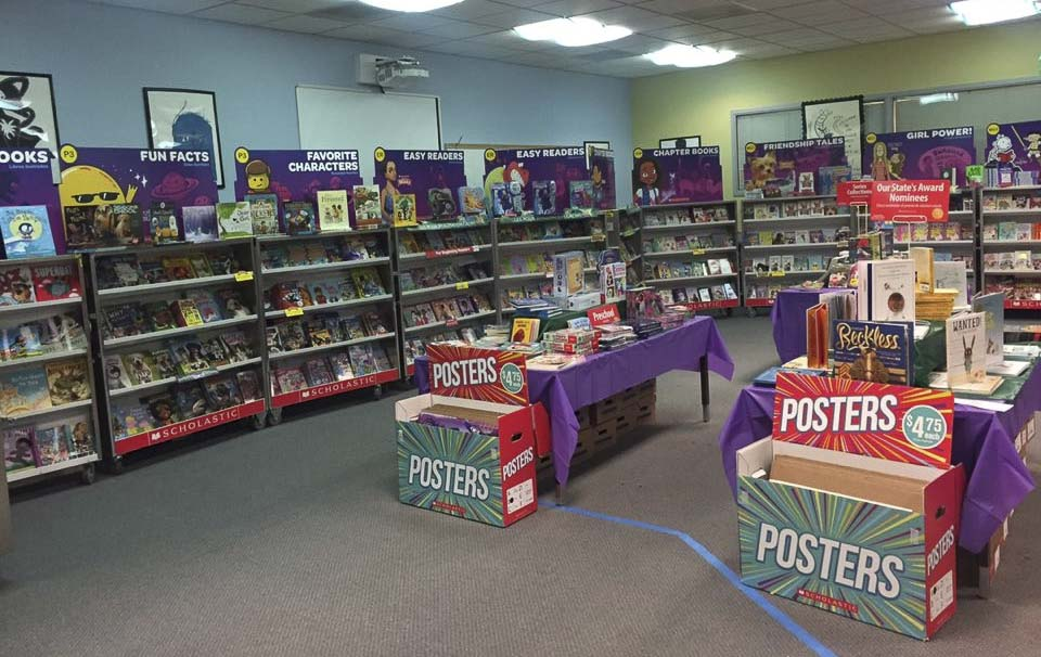 Union Ridge Elementary School's Book Fair offers a wide range of books for each age range as well as posters and other fun items. Photo courtesy of Ridgefield Public Schools