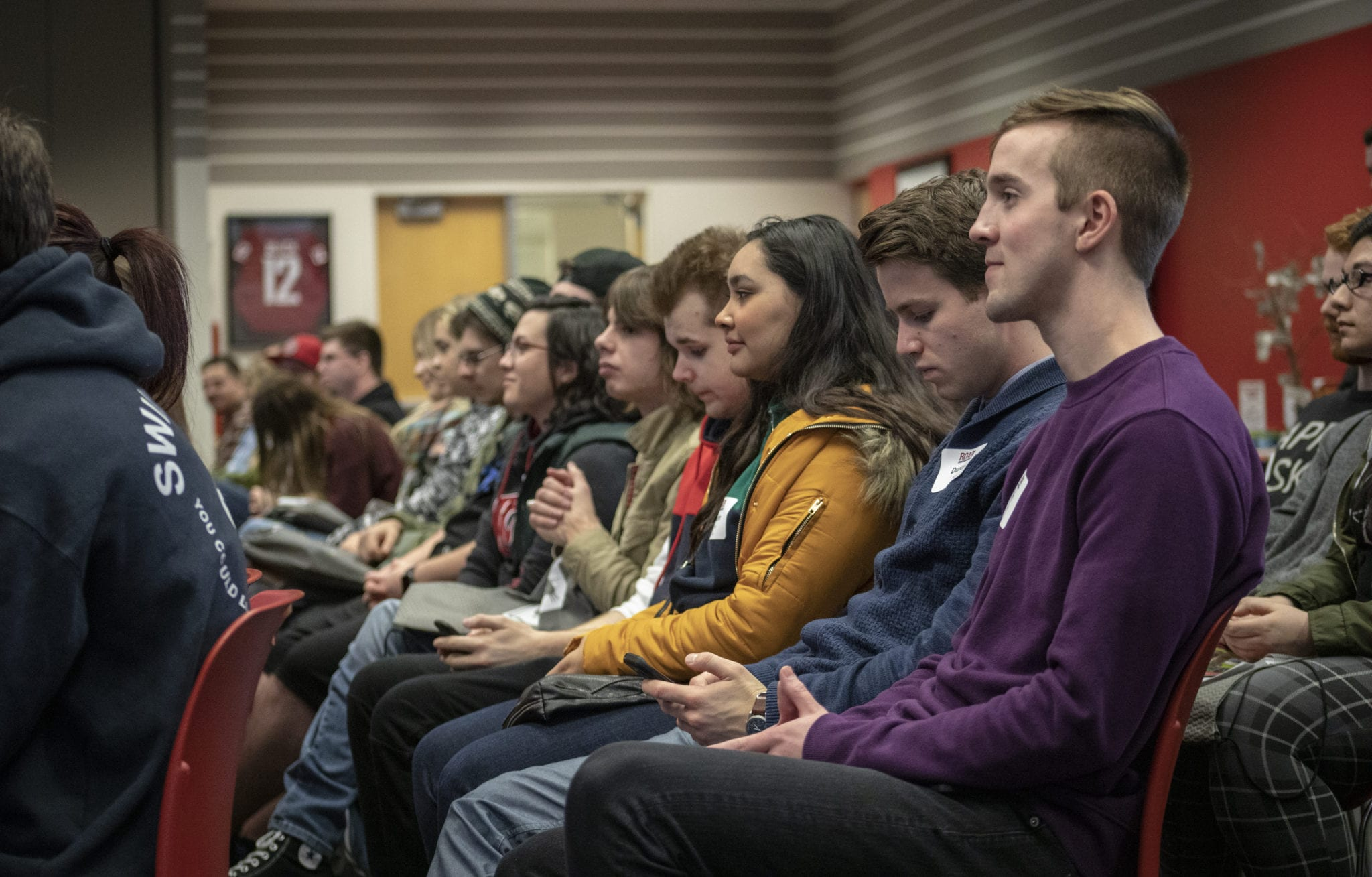 Incoming WSUV students listen to opening talks by faculty at the spring semester 2019 ROAR orientation. Photo by Jacob Granneman