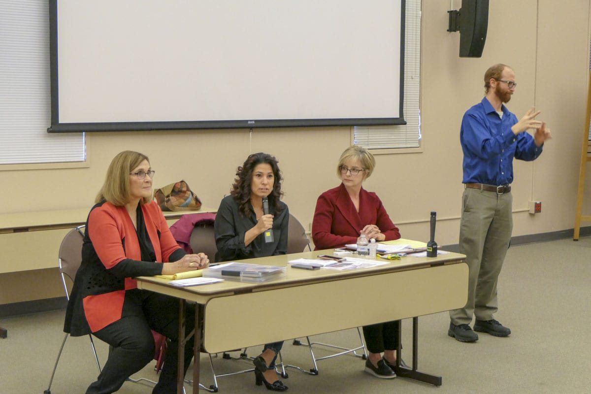 Members of Southwest Washington's 49th Legislative District address a town hall meeting ahead of the state's legislative session. Photo by Chris Brown