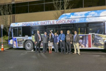Battle Ground featured on newly wrapped C-Tran bus