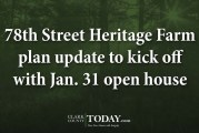 78th Street Heritage Farm plan update to kick off with Jan. 31 open house