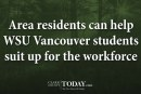 Area residents can help WSU Vancouver students suit up for the workforce