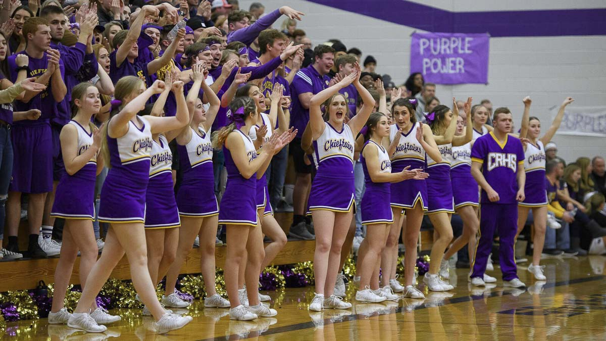 Columbia River fans have a lot to be excited about this season. The boys basketball teams is in first place in the 2A Greater St. Helens League, ranked fifth in the state in RPI. Photo courtesy of Ken Waz.