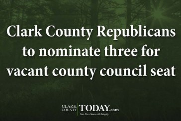 Clark County Republicans to nominate three for vacant county council seat