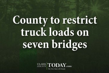 County to restrict truck loads on seven bridges
