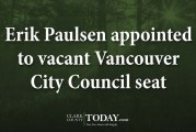 Erik Paulsen appointed to vacant Vancouver City Council seat