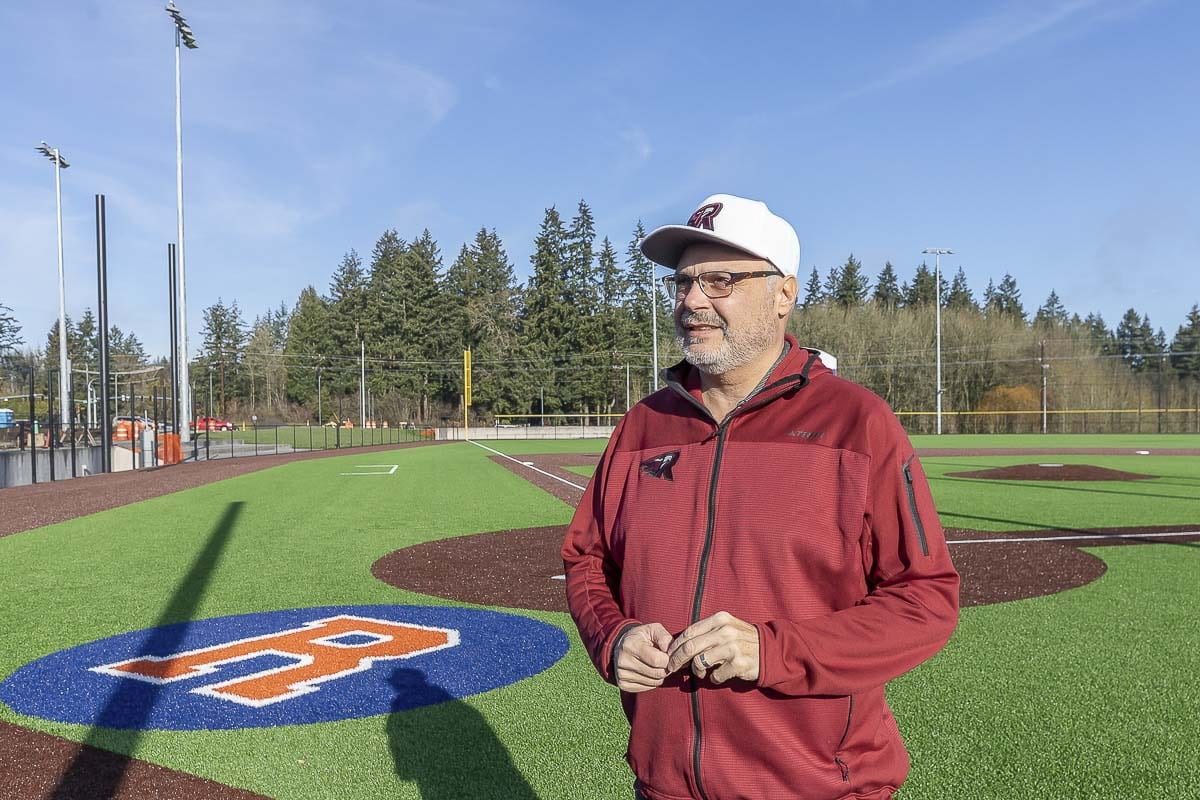 Gus Farah, the general manager of the Ridgefield Raptors, gave a tour of the stadium recently. The team will play its first game in June. Photo by Mike Schultz