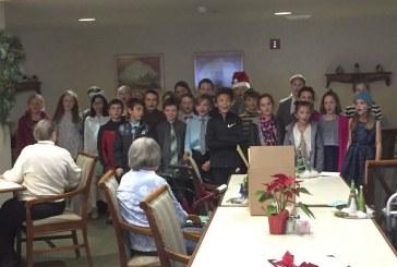 South Ridge Elementary students visit senior living center
