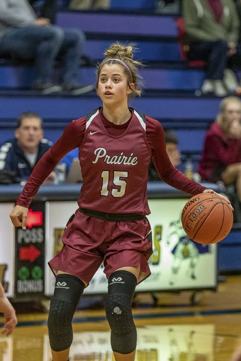 Cassidy Gardner is one of three seniors on the Prairie team, helping the Falcons to a strong record and a fantastic RPI ranking as the Falcons head into the stretch run of the regular season. Photo by Mike Schultz