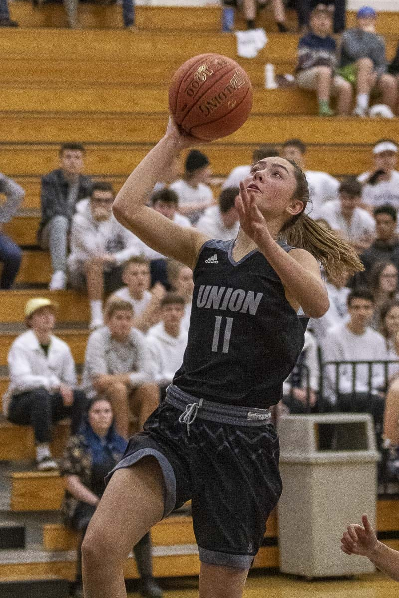 Lolo Weatherspoon provided a huge lift off the bench for the Union Titans, scoring 10 points in a win over Skyview on Tuesday. Photo by Mike Schultz