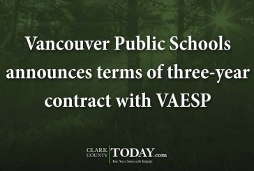 Vancouver Public Schools announces terms of three-year contract with VAESP