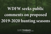 WDFW seeks public comments on proposed 2019-2020 hunting seasons