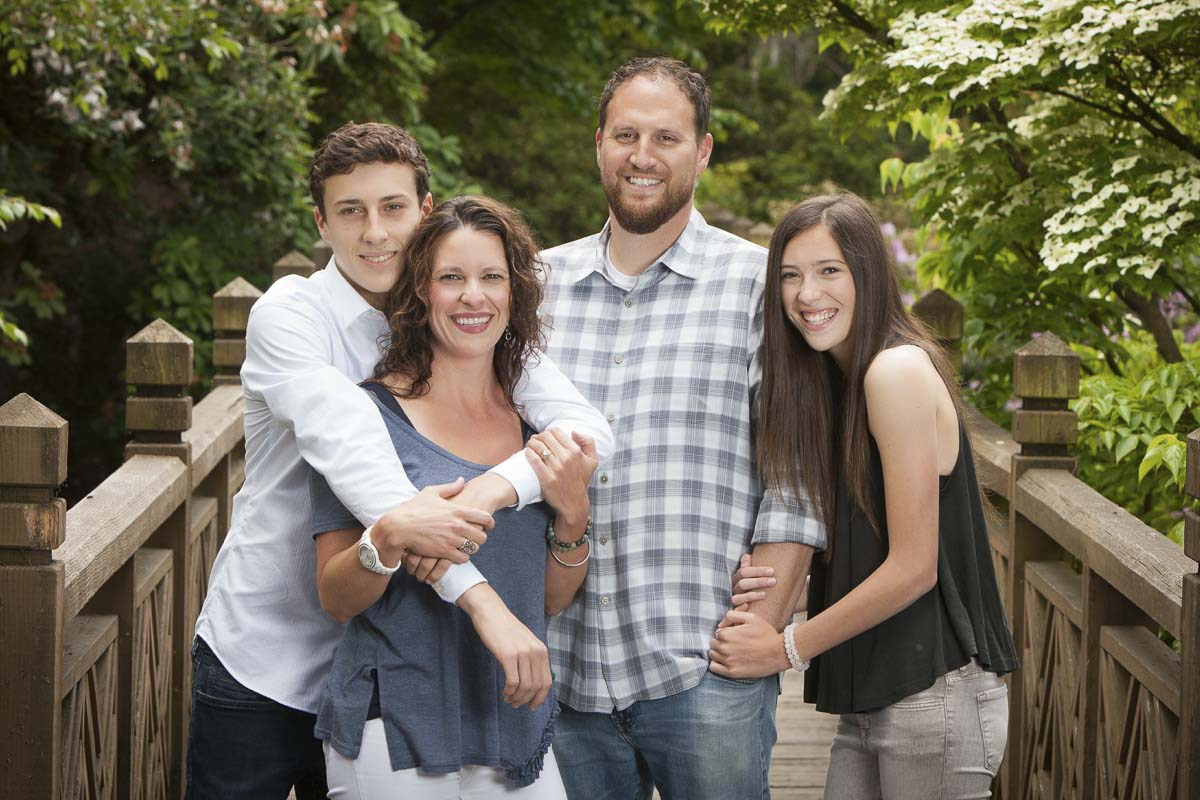 This family portrait was taken just days after Jaime Miller was diagnosed with breast cancer. Andy and Jaime were high school sweethearts at Columbia River. Alex, a junior, now plays basketball at River. Jillian is chasing her dreams of becoming a dancer. Photo courtesy of the Miller family