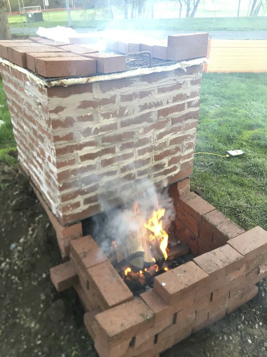 This traditional kiln was created by Ridgefield High School chemistry, art and shop classes. Photo courtesy of Ridgefield Public Schools