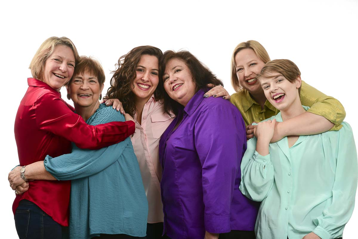 Sass and brass comes to Love Street Playhouse this Feb. 15 through March 3. Steel Magnolias starring (from left) Cindy Heikkala of Vancouver as Clairee, Patricia Rohrbach of Vancouver as Ouiser, Jessica Wisniewski of Woodland as Shelby, Karen Cleveland of Vancouver as M'Lynn, Rebecca York of La Center as Truvy and Rebekah Skinner of La Center as Annelle. Photo courtesy of Mike Patnode