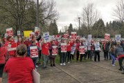 VAESP employees rally outside Vancouver School District office