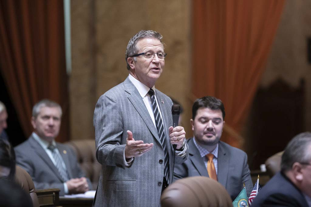 In a 96-0 vote last week, the state House of Representatives approved a bill sponsored by Rep. Larry Hoff to assist the Department of Licensing in eliminating inefficiencies after its rollout of a modernized licensing system late last year. Photo courtesy of Washington State House Republican Communications